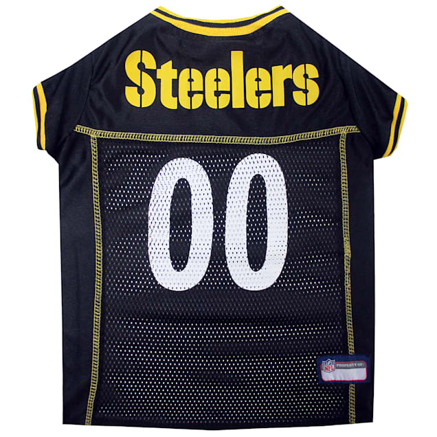 Pets First Pittsburgh Steelers NFL Mesh Pet Jersey, X-Small - Carousel image #1