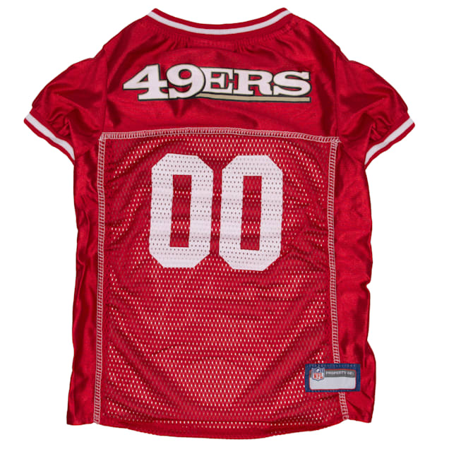 Pets First San Francisco 49ers NFL Mesh Pet Jersey, X-Small - Carousel image #1