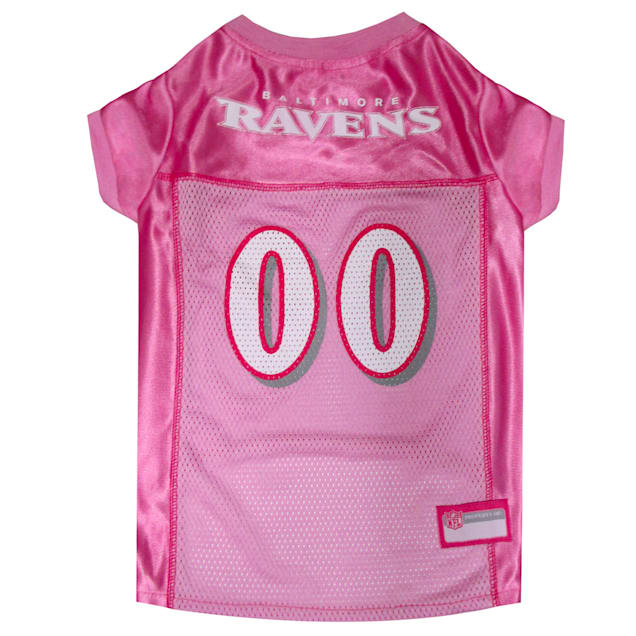 Pets First Baltimore Ravens NFL Pink Mesh Jersey, X-Small - Carousel image #1