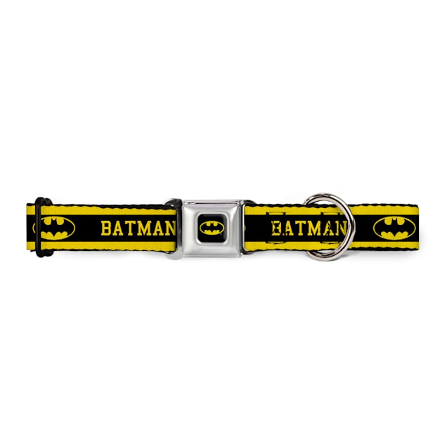 "Buckle-Down Batman Dog Collar, For necks 11""-17"" - Carousel image #1"