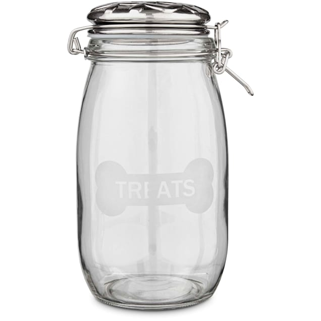 Harmony Glass Dog Treat Jar - Carousel image #1