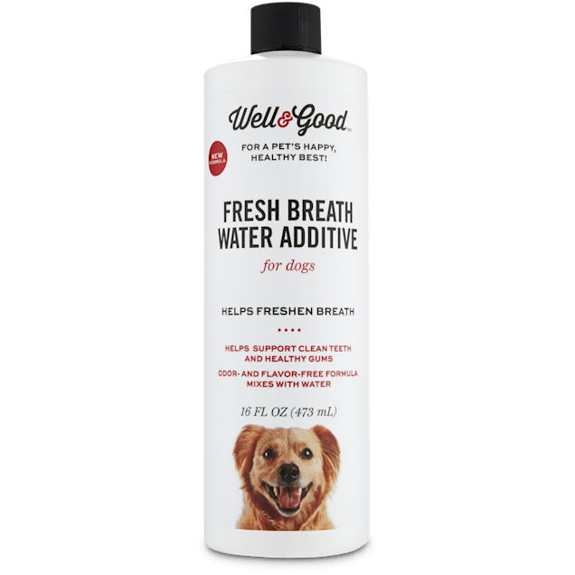 Well & Good Fresh Breath Water Additive for Dogs, 16 fl. oz. - Carousel image #1