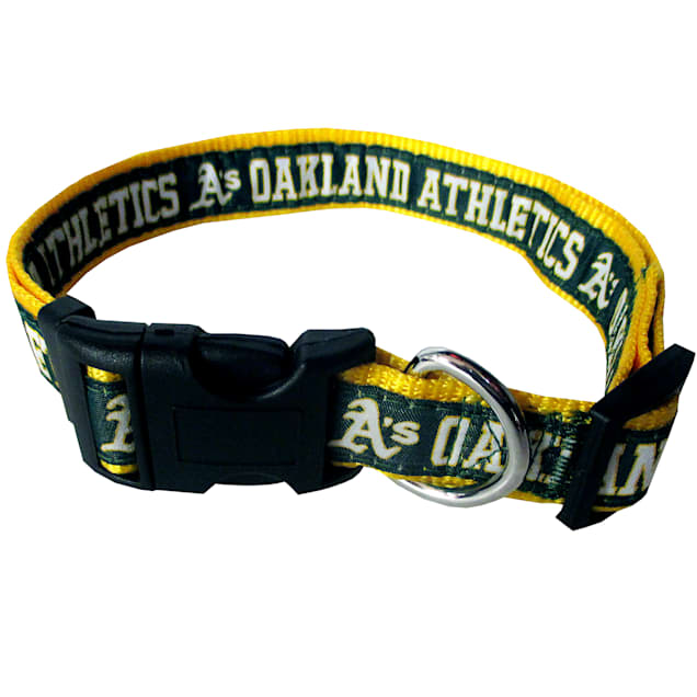 Pets First Oakland Athletics MLB Dog Collar, Small - Carousel image #1