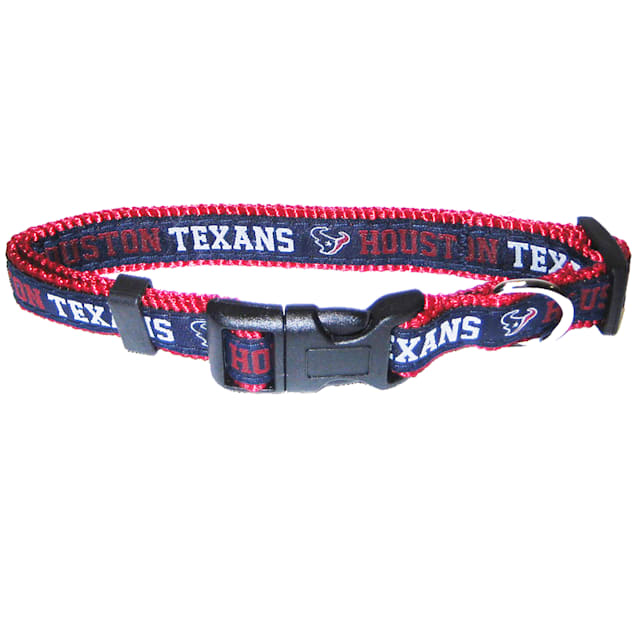 Pets First Houston Texans NFl Dog Collar, Small - Carousel image #1