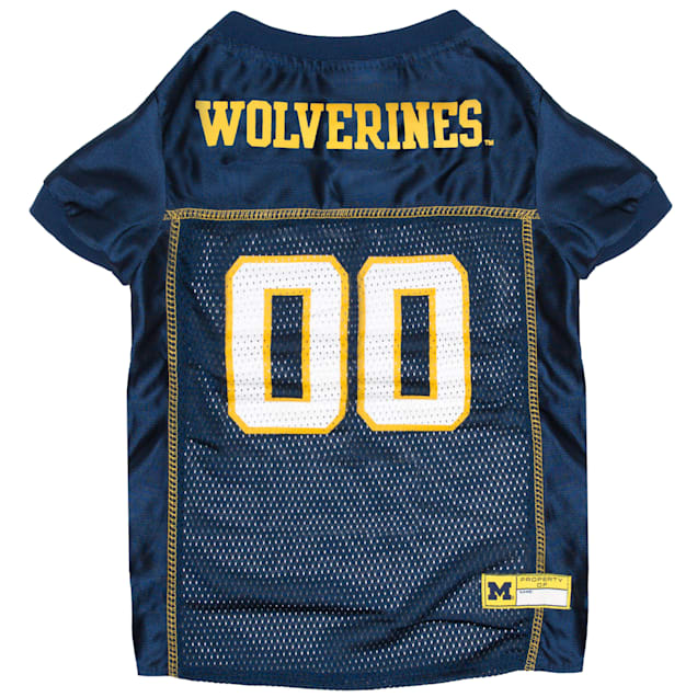 Pets First Michigan Wolverines NCAA Mesh Jersey for Dogs, X-Small - Carousel image #1