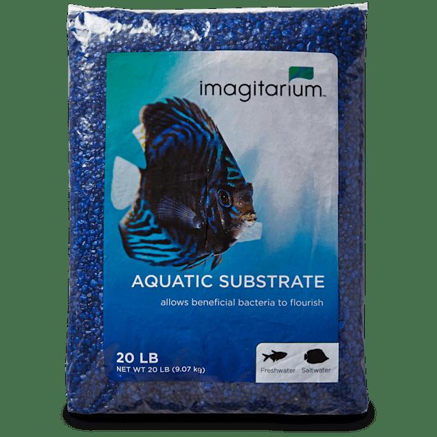 Imagitarium Dark Blue Aquarium Gravel, 20 LBS - Carousel image #1