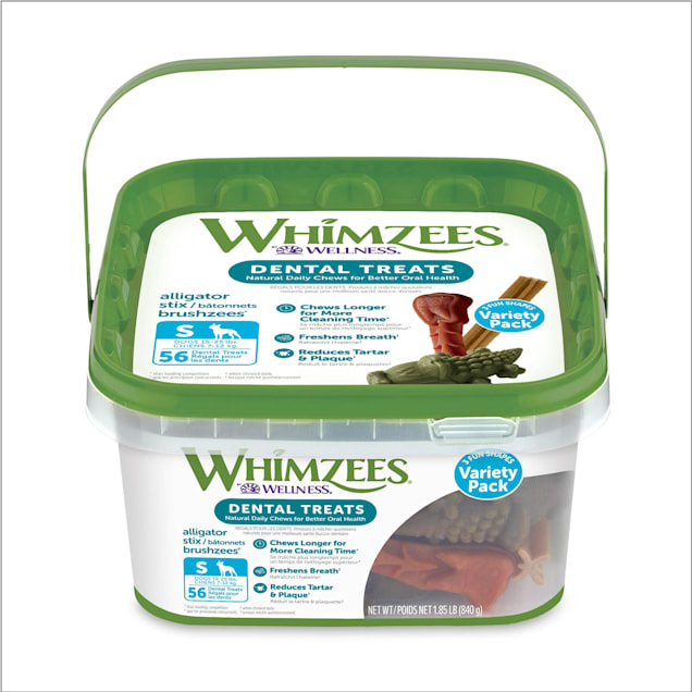 Whimzees Small Variety Dog Chews Container - Carousel image #1