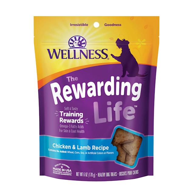 Wellness Natural Grain Free Wellbites Chicken & Lamb Recipe Soft Dog Treats, 6 oz - Carousel image #1