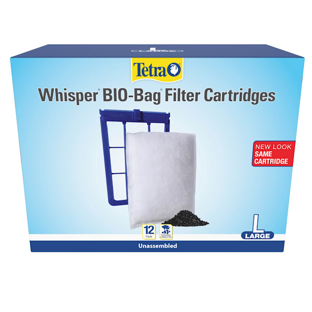 Tetra Whisper Bio-Bag Large Disposable Filter Cartridges, 12 Count - Carousel image #1