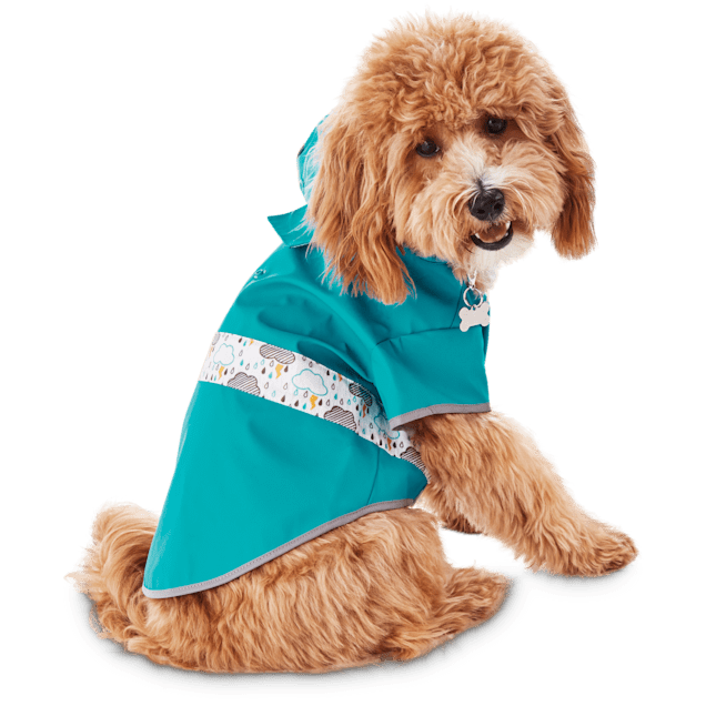 Good2Go Reversible Dog Raincoat in Blue, Extra Small - Carousel image #1
