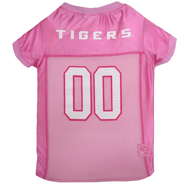 Pets First LSU Tigers Pink Jersey, X-Small - Carousel image #1