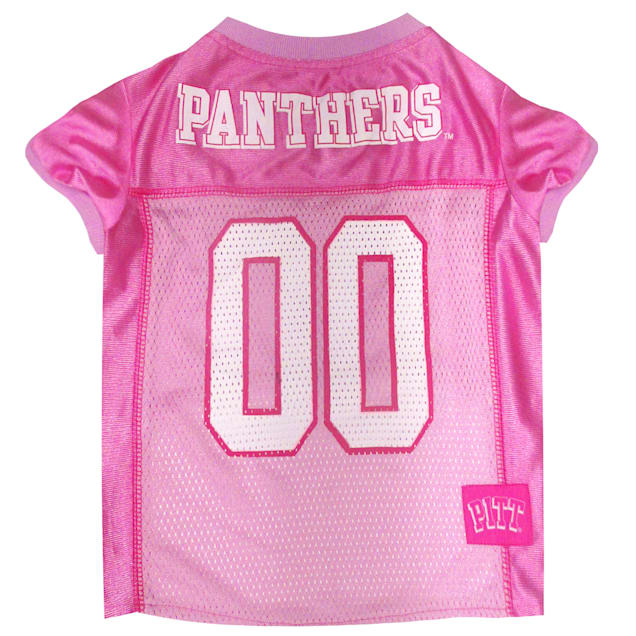 Pets First Pittsburgh Panthers Pink Jersey, Large - Carousel image #1