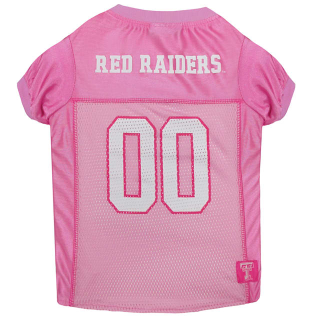Pets First Texas Tech Raiders Pink Jersey, X-Small - Carousel image #1