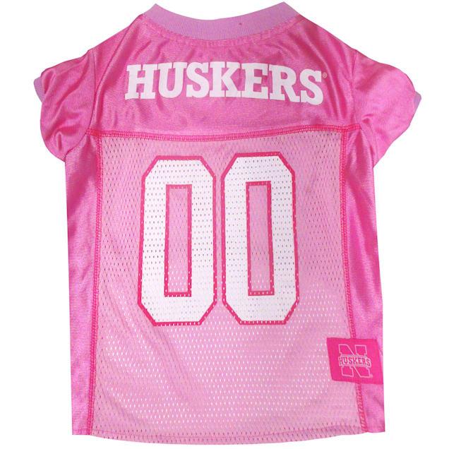 Pets First Nebraska Huskers Pink Jersey, X-Small - Carousel image #1