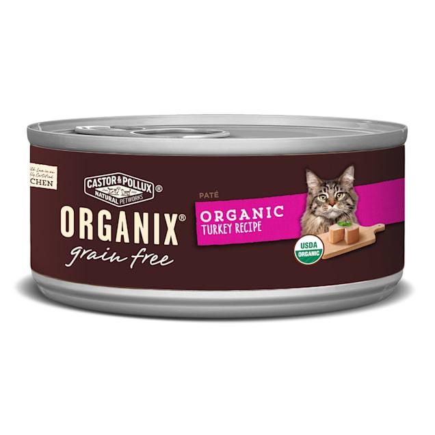 Castor & Pollux Organix Grain Free Organic Turkey Pate Wet Cat Food, 5.5 oz., Case of 24 - Carousel image #1
