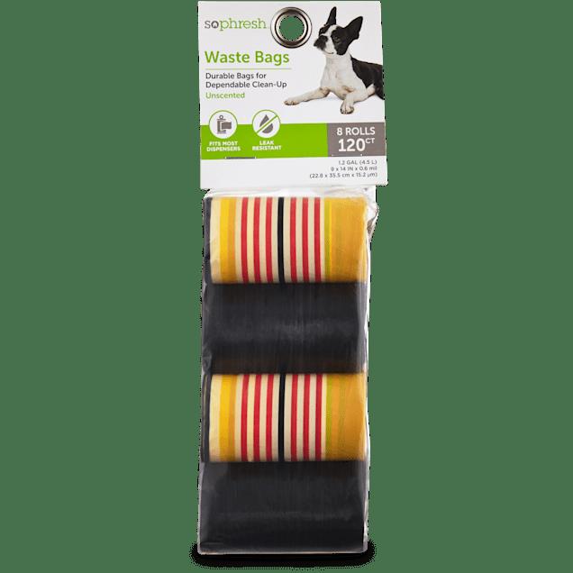 So Phresh Striped Dog Waste Bag Refills, 120 CT - Carousel image #1
