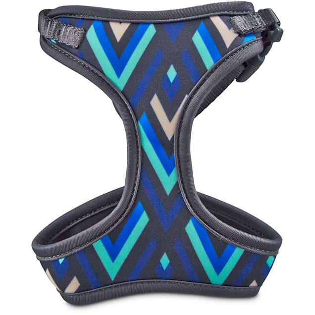 Good2Go Aqua and Blue Chevron Cat Harness and Leash Set - Carousel image #1