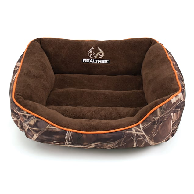 "Realtree Camouflage with Orange Trim Pet Bed, 25"" L x 21"" W - Carousel image #1"