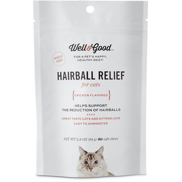 Well & Good Hairball Relief Soft Chew Cat Supplement, 60 CT - Carousel image #1