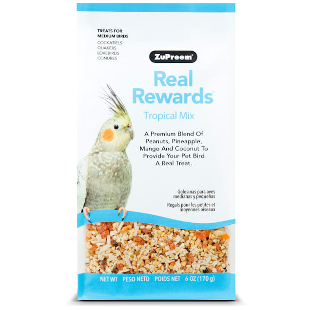 ZuPreem Real Rewards Tropical Mix Treats for Medium Birds - Carousel image #1