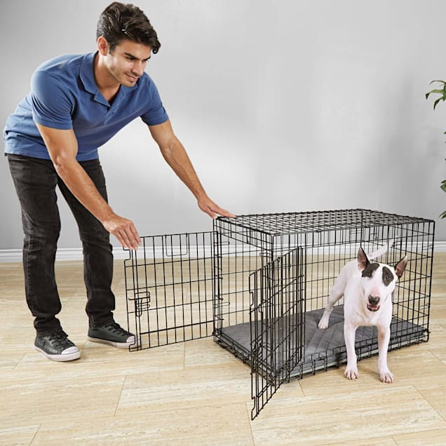 "You & Me Ultra Tough 2-Door Folding Dog Crate, 37""L x 24""W x 25""H - Carousel image #1"