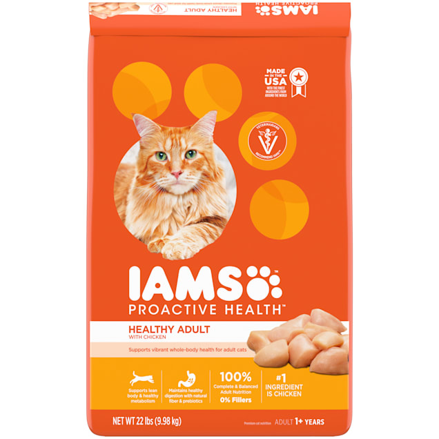 Iams ProActive Health with Chicken Adult Dry Cat Food, 22 lbs. - Carousel image #1