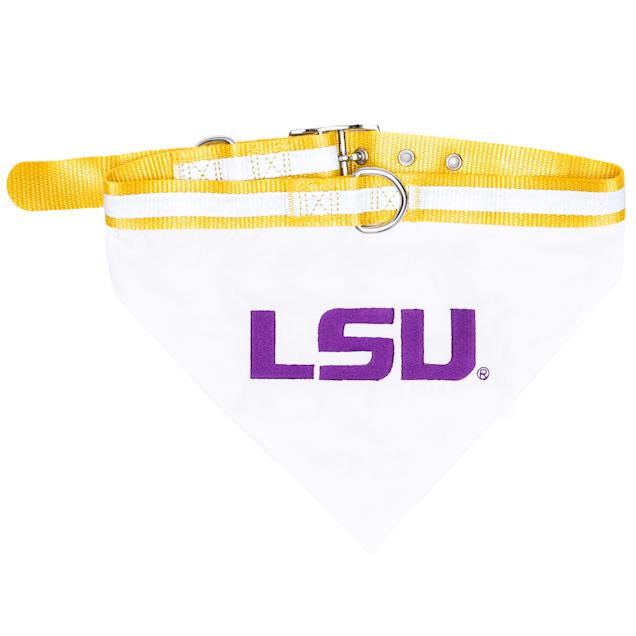 Pets First LSU Tigers NCAA Dog Collar NCAA Dog Bandana, Small - Carousel image #1