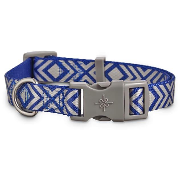 Good2Go Reflective Blue Diamond Dog Collar, Large/X-Large - Carousel image #1