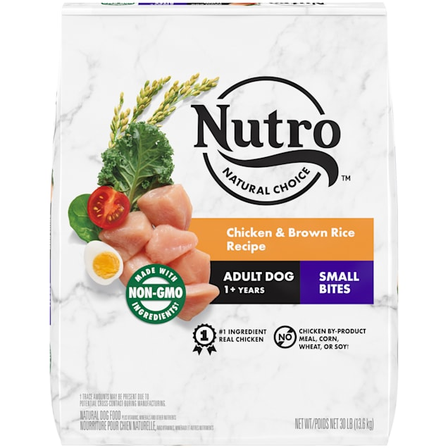 Nutro Wholesome Essentials Small Bites Farm-Raised Chicken, Brown Rice & Sweet Potato Recipe Dry Adult Dog Food, 30 lbs. - Carousel image #1