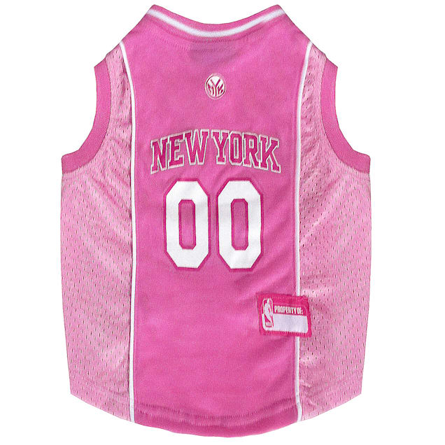Pets First New York Knicks NBA Pink Jersey for Dogs, X-Small - Carousel image #1