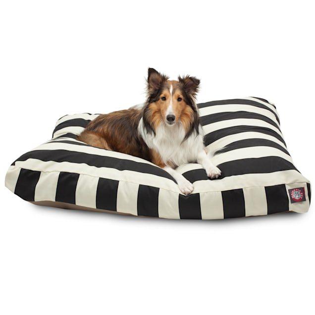 "Majestic Pet Black Vertical Stripe Rectangle Pet Bed, 44"" L x 36"" W - Carousel image #1"