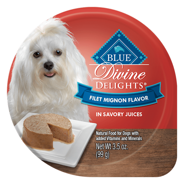 Blue Buffalo Blue Divine Delights Filet Mignon Flavor in Savory Juices Wet Dog Food, 3.5 oz., Case of 12 - Carousel image #1