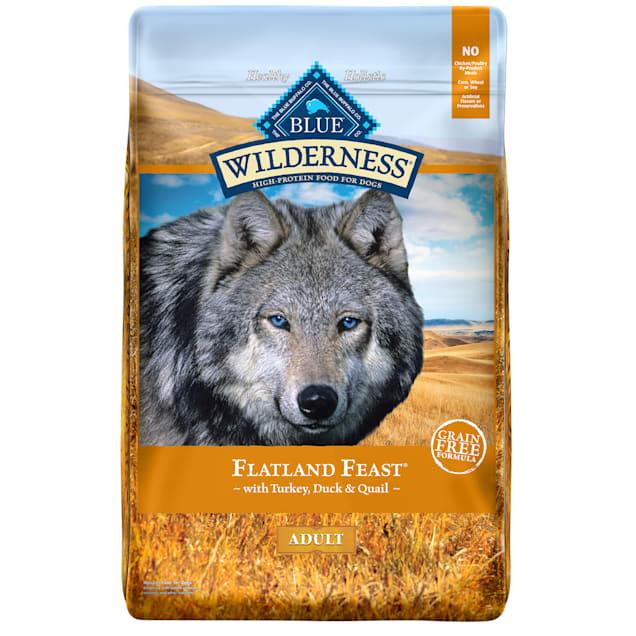 Blue Buffalo Blue Wilderness Flatland Feast Adult Turkey, Quail, & Duck Recipe Dry Dog Food, 22 lbs. - Carousel image #1