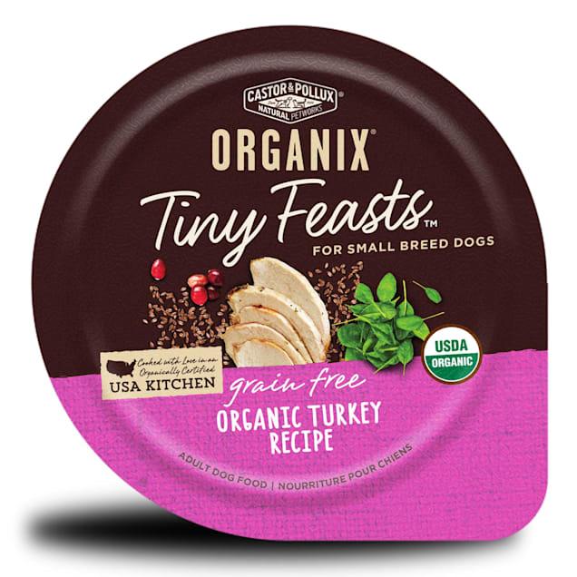 Castor & Pollux Organix Tiny Feasts Grain Free Organic Turkey Recipe Wet Dog Food, 3.5 oz., case of 12 - Carousel image #1