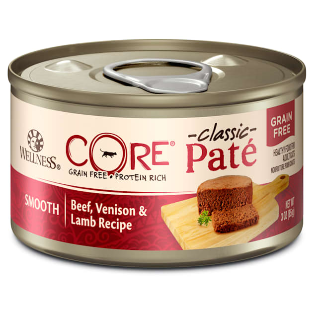 Wellness CORE Natural Grain Free Beef Venison & Lamb Wet Canned Cat Food, 3 oz., Case of 12 - Carousel image #1