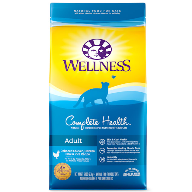 Wellness Complete Health Natural Chicken, Chicken Meal & Rice Dry Cat Food, 6 lbs. - Carousel image #1