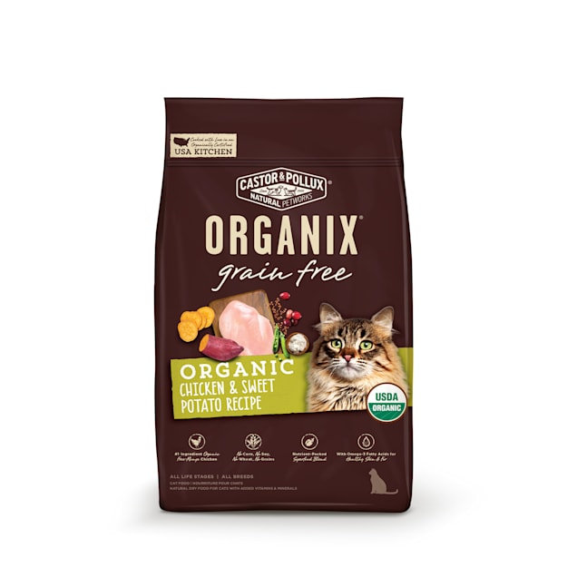Castor & Pollux Organix Grain Free Chicken and Sweet Potato Recipe Dry Cat Food, 10 lbs. - Carousel image #1