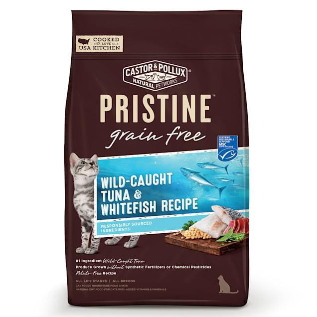 Castor & Pollux Pristine Grain Free Wild-Caught Tuna & Whitefish Recipe Dry Cat Food, 6 lbs. - Carousel image #1