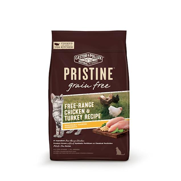 Castor & Pollux Pristine Grain Free Free-Range Chicken & Turkey Recipe Dry Cat Food, 10 lbs. - Carousel image #1