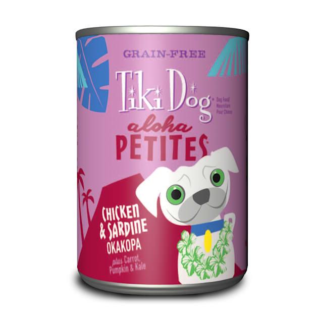 Tiki Dog Aloha Petites Chicken & Sardine Okakopa Small Breed Wet Dog Food, 9 oz., Case of 12 - Carousel image #1