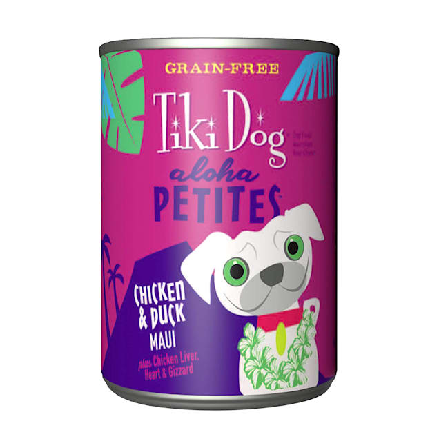 Tiki Dog Aloha Petites Chicken & Duck Maui Small Breed Wet Dog Food, 9 oz., Case of 8 - Carousel image #1