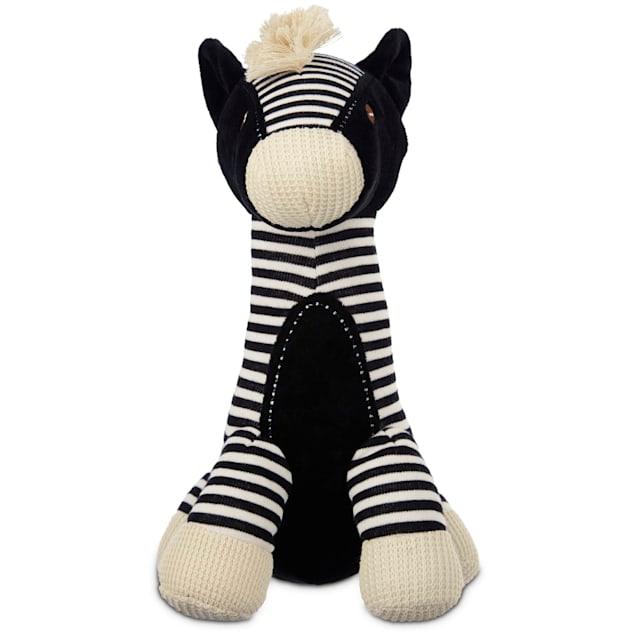 """Leaps & Bounds Wildlife Plush Long Neck Zebra Dog Toy, 12"""" - Carousel image #1"""