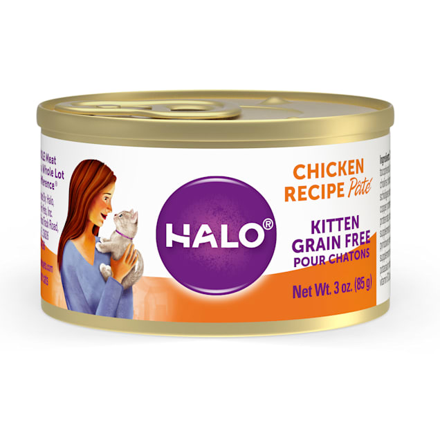 Halo Kitten Grain Free Chicken Recipe Canned Cat Food, 3 oz. - Carousel image #1