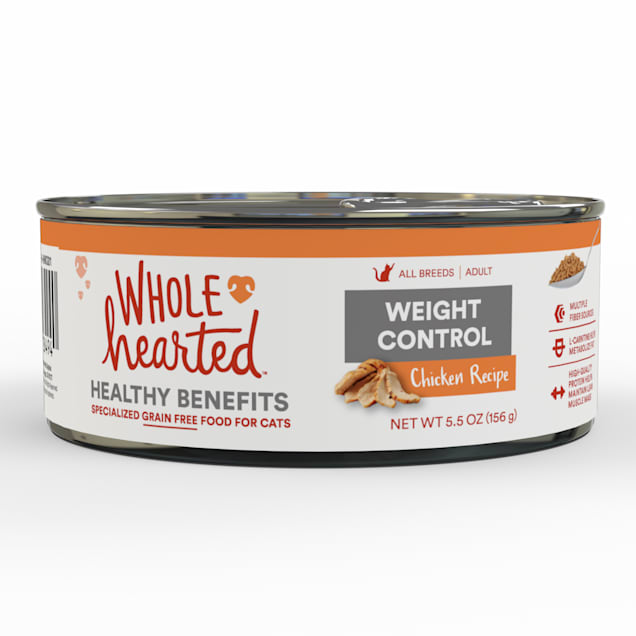 WholeHearted Weight Control Chicken Recipe Adult Wet Cat, 5.5 oz., Case of 24 - Carousel image #1