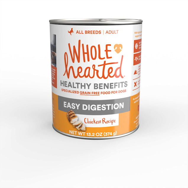WholeHearted Easy Digestion Chicken Recipe Wet Dog Food, 13.2 oz., Case of 12 - Carousel image #1