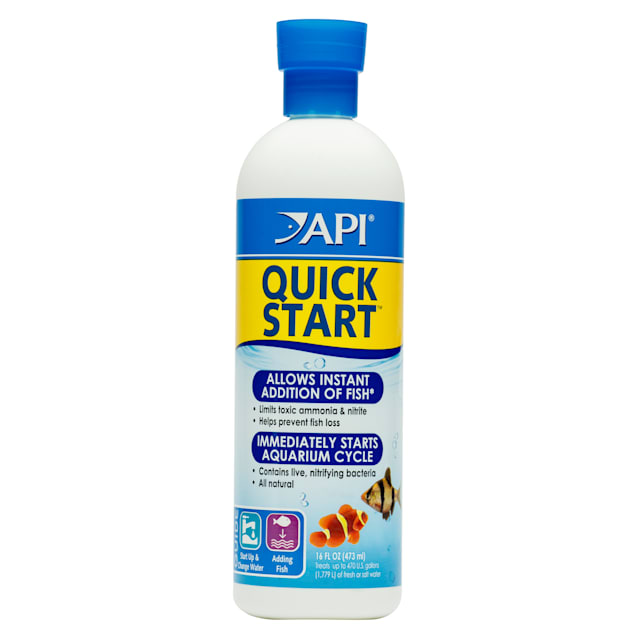 API QUICK START Freshwater and Saltwater Aquarium Nitrifying Bacteria 16-Ounce Bottle - Carousel image #1