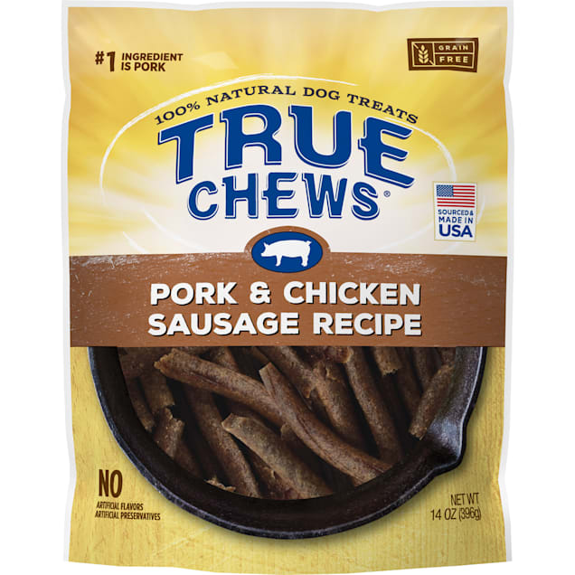 True Chews Pork & Chicken Sausage Recipe Dog Treats, 14 oz. - Carousel image #1