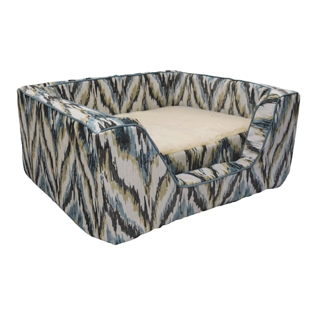 """Snoozer Premium Micro Suede Square Tempest Spring With Memory Foam Dog Bed, 31.5"""" L X 27.5"""" W - Carousel image #1"""