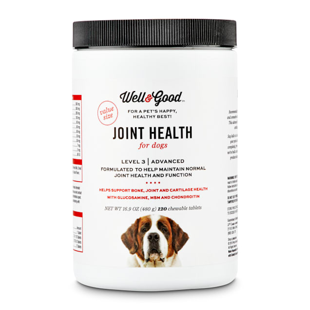 Well & Good Joint Support III Dog Tablets, 120 tablets - Carousel image #1