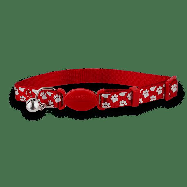 Good2Go Red Shiny Paws Breakaway Cat Collar - Carousel image #1